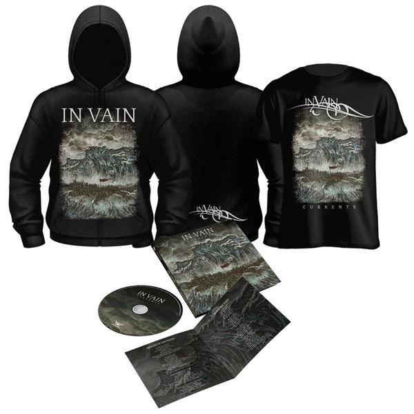 IN VAIN - Currents (Ltd. Ed. CD w/bonus tracks+TS+Zip Hoodie)