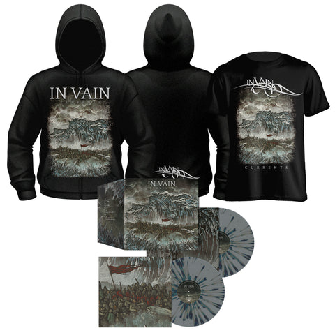 IN VAIN - Currents (Ltd. Ed. 2LP Grey with Speckles w/bonus tracks+TS+Zip Hoodie)