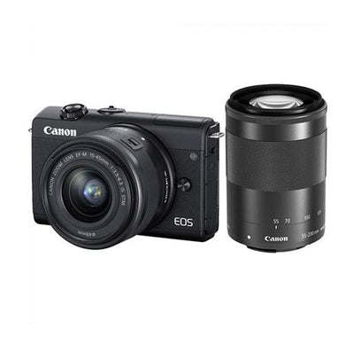 Canon EOS M200 Mirrorless Camera with 15-45mm and 55-200mm Lenses_Durban