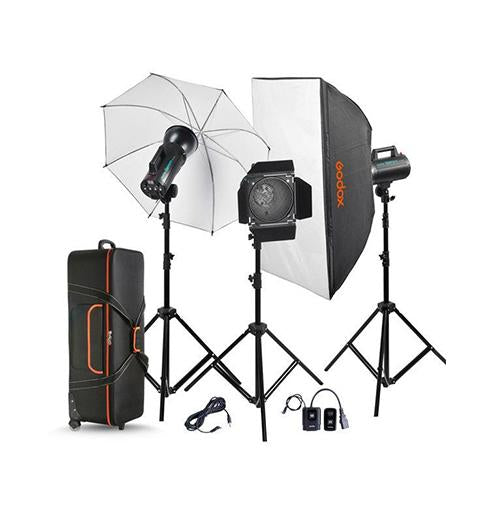Godox GS400W 3-Light Studio Kit
