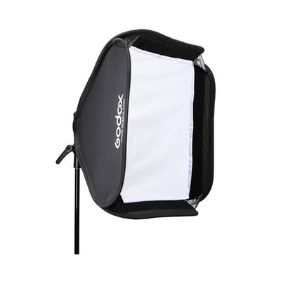 Godox S2 Bowens Mount Bracket with Softbox, Grid & Carrying Bag Kit
