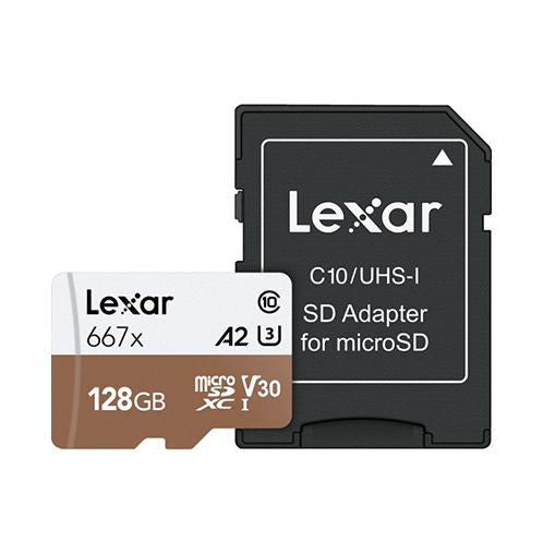 Lexar 128GB High-Speed 677x 100MB/s UHS-I microSDXC Memory Card with SD Adapter_Durban