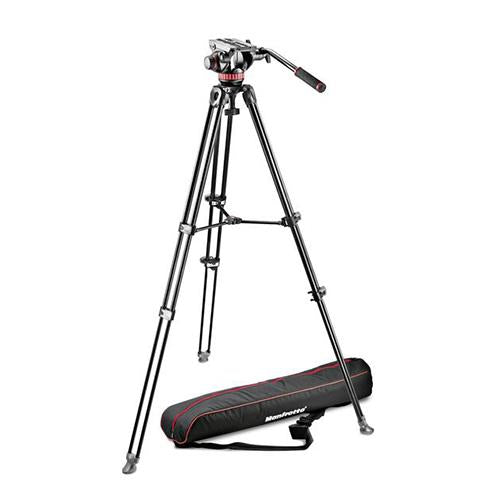 Manfrotto MVK502AM-1 Pro Video Aluminium Kit MVH502A + MVT502AM Tripod + Padded Bag_Durban