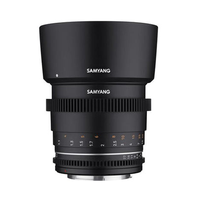 USED: Samyang 85mm T1.5 VDSLR Lens for Sony E Rating 7/10