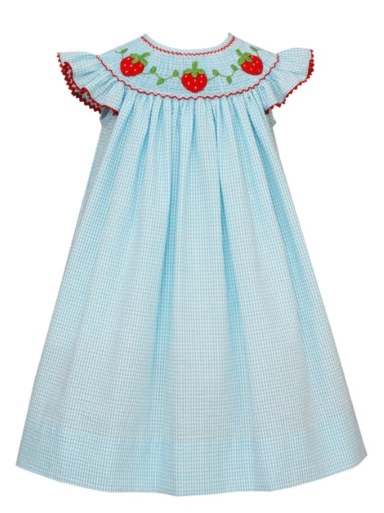 Claire and Charlie Strawberry Angel Sleeve Dress