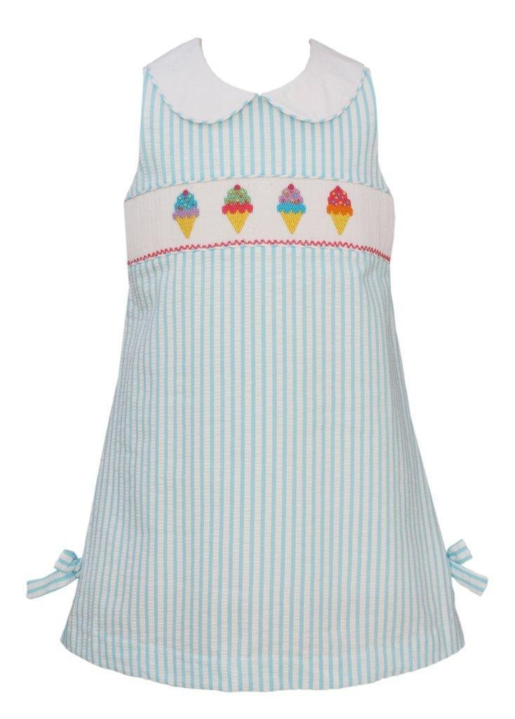 Claire and Charlie Ice Cream Shift Dress with Bows and Collars