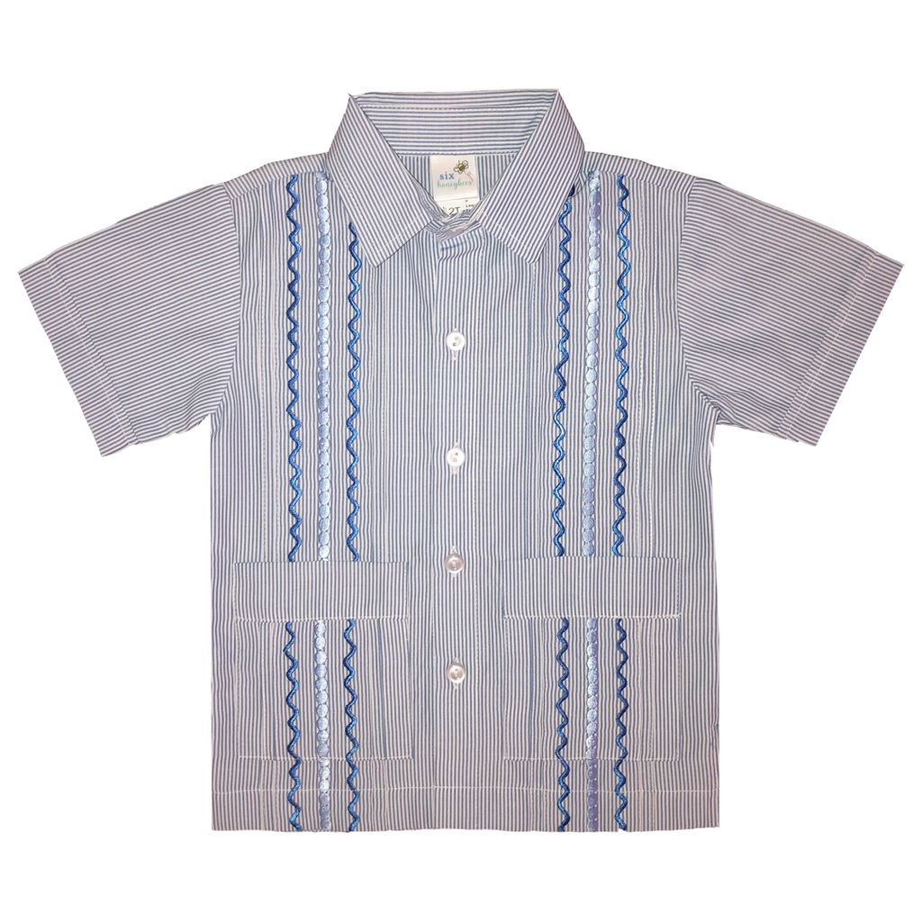 Bluebonnet Hill Boy's Guayabera Shirt