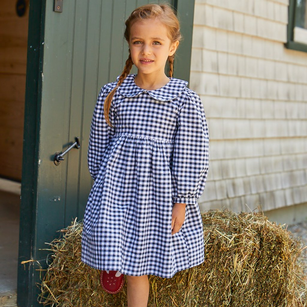 Nantucket Kids Claire Dress - Navy Gingham