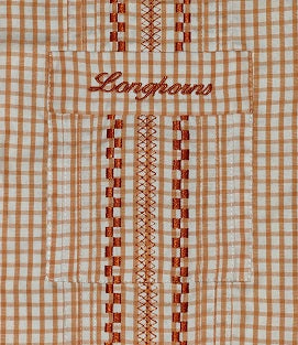 Longhorn Boy's Gingham Gameday Guayabera Shirt