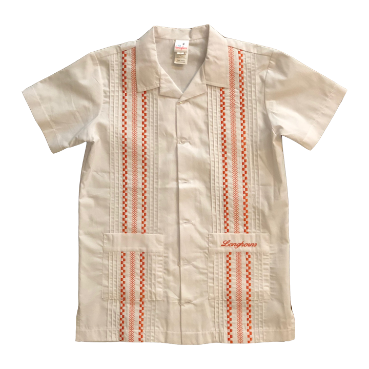 Longhorn Boy's Waltham White Gameday Guayabera Shirt