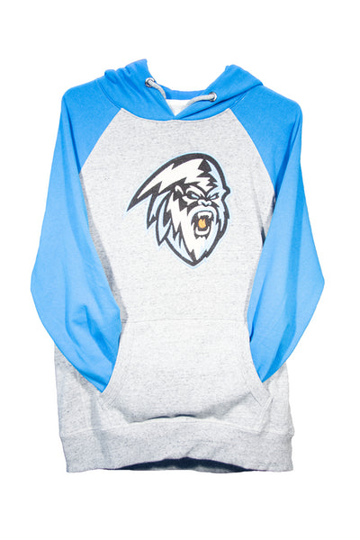 Men's Blue & Grey Pull Over Hoodie