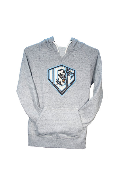 Women's Heather Grey Pull Over Hoodie