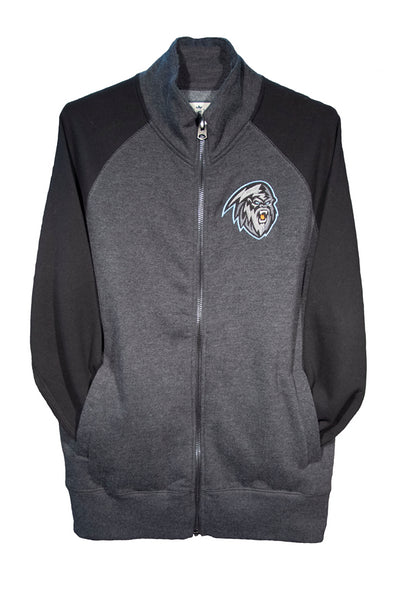 Men's 2 Toned Black Full Zip
