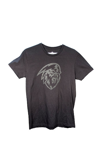 Men's Black with Faded Logo T-Shirt