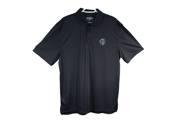 Men's Black with Colour Logo Golf Shirt