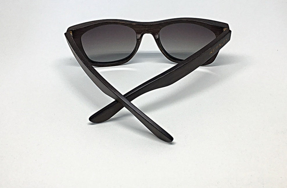 IKE FINLEY Dark Chocolate Bamboo Sunglasses