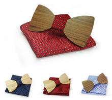 The Theodore Wooden Bow Tie With Pocket Square