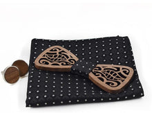 The Francis Wooden Bow Tie 3 Piece Set