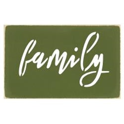 Family Cutout Wood Sign