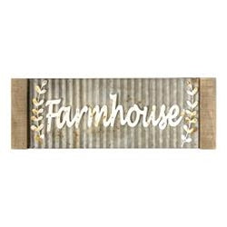 Framed Galvanized Metal Farmhouse Wall Sign