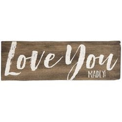 Love You Madly Wall Sign, 2 Asst.