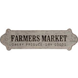 Farmers Market Distressed Metal Wall Sign