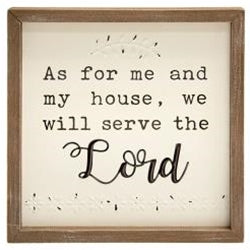 As For Me and My House Framed Wall Sign