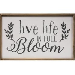 Live Life in Full Bloom Framed Wall Sign