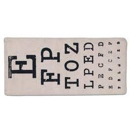 Eye Chart Eyeglasses Case