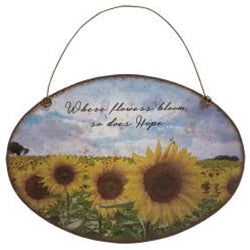 Sunflower Metal Wall Hanger