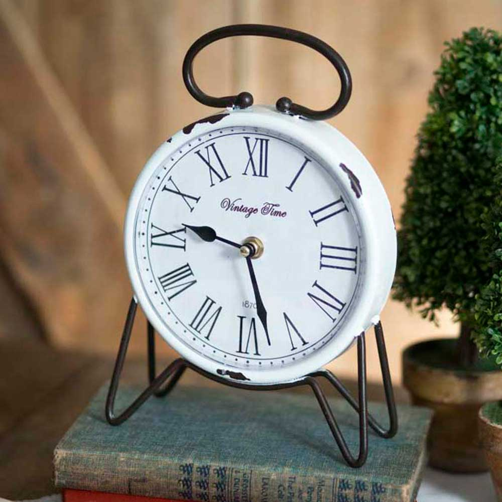 Vintage Time Tabletop Clock - Farmhouse Decor