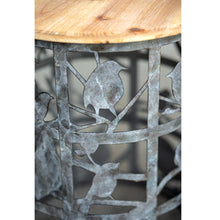 Set of Two Bird Cutout Side Tables