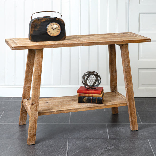Two-Tier Wooden Side Table