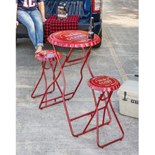 Old Glory Folding Metal Table with Two Stools