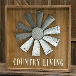 Country Living Windmill Sign