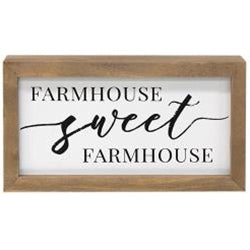 Farmhouse Sweet Farmhouse Framed Box Sign