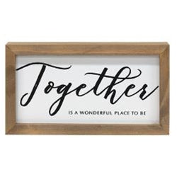 Together Framed Box Sign