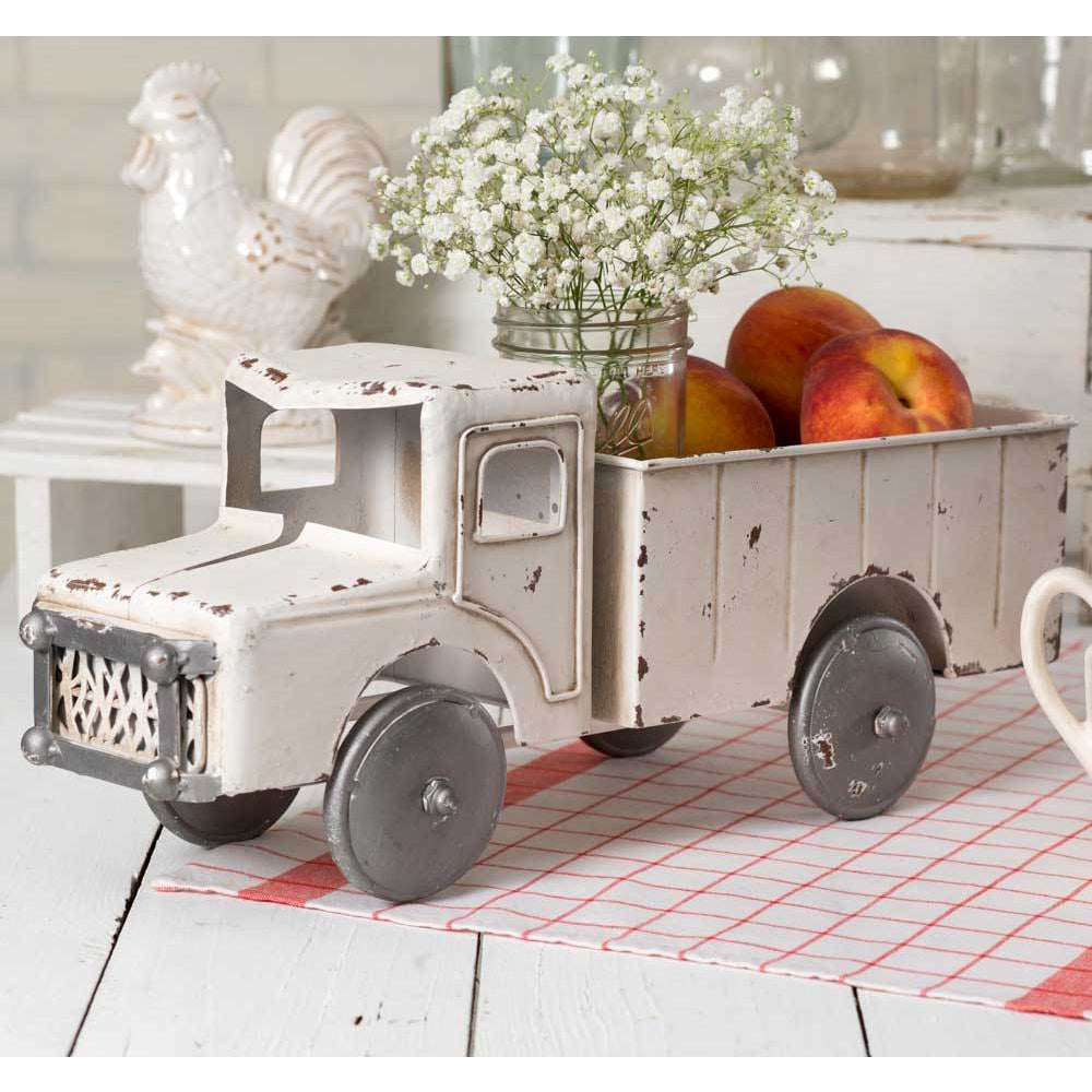 White Truck Planter - Farmhouse Decor