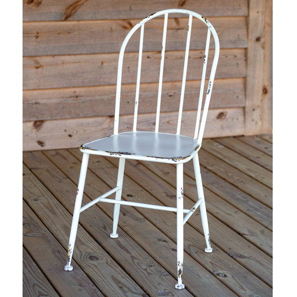 White Metal Chair