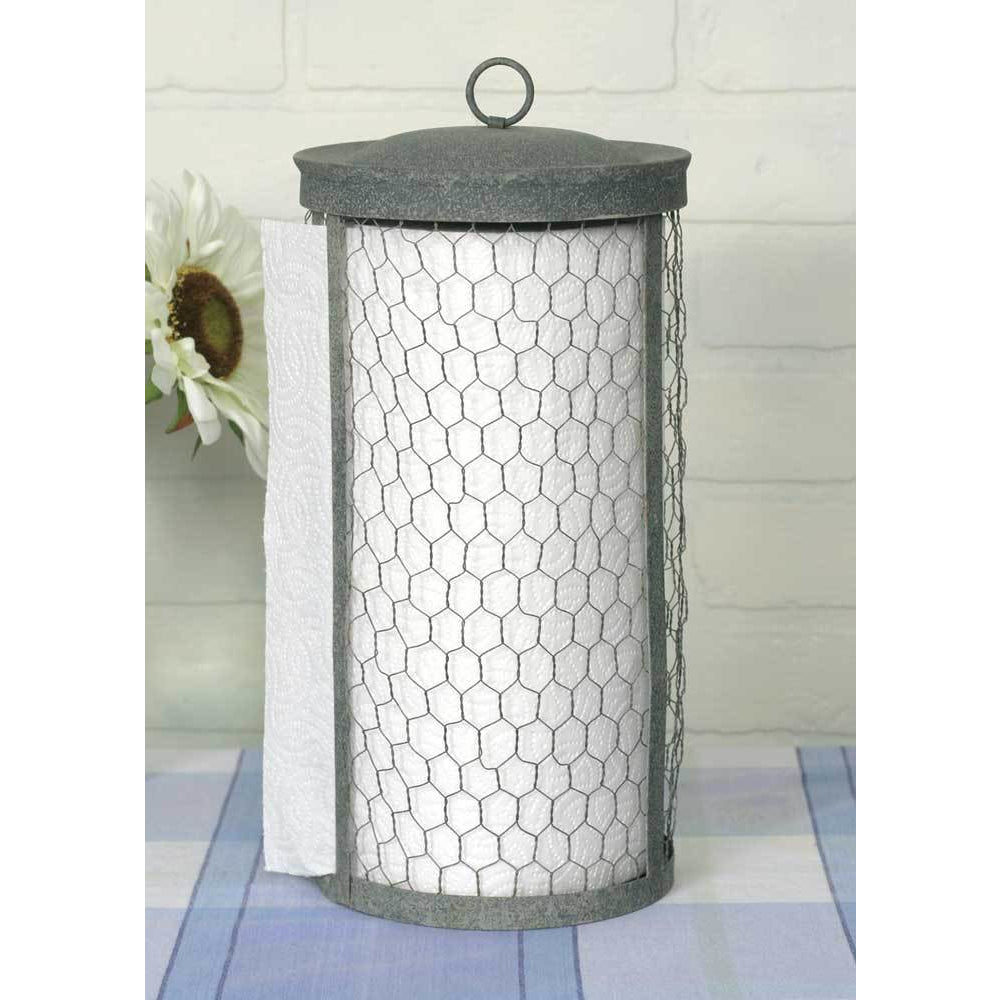 Chicken Wire Paper Towel Holder - Farmhouse Decor