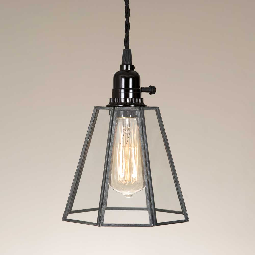 Glass Bell Pendant Lamp - Farmhouse Decor
