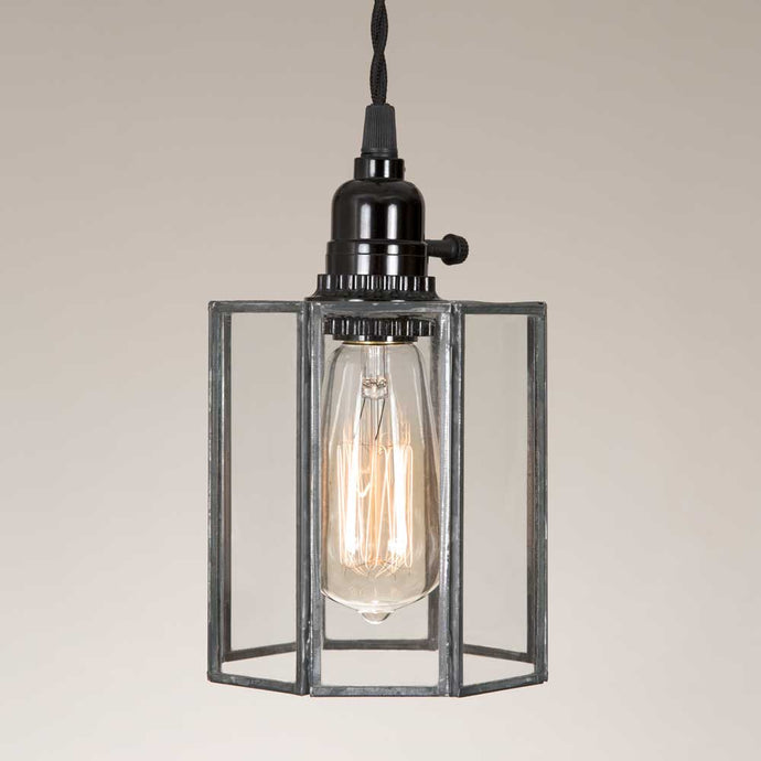 Glass Drum Pendant Lamp - Farmhouse Decor