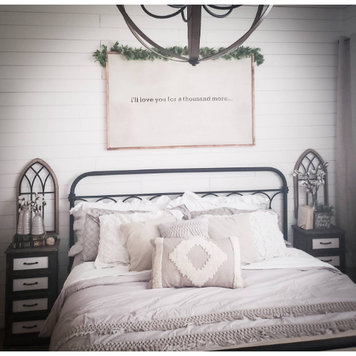 Custom Bedroom Wall Sign - Farmhouse Decor