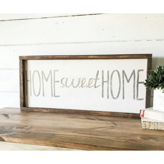 Home Sweet Home sign - Farmhouse Decor