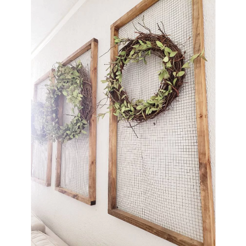 Farmhouse Chicken Wire Frame - Farmhouse Decor