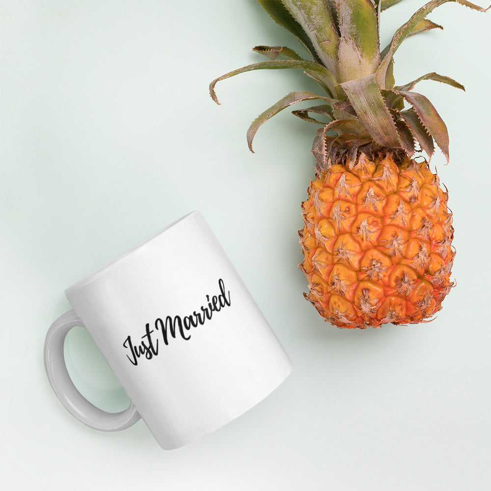Just Married cup, Newly wed cup, Wedding gift, Wife gift - Farmhouse Decor