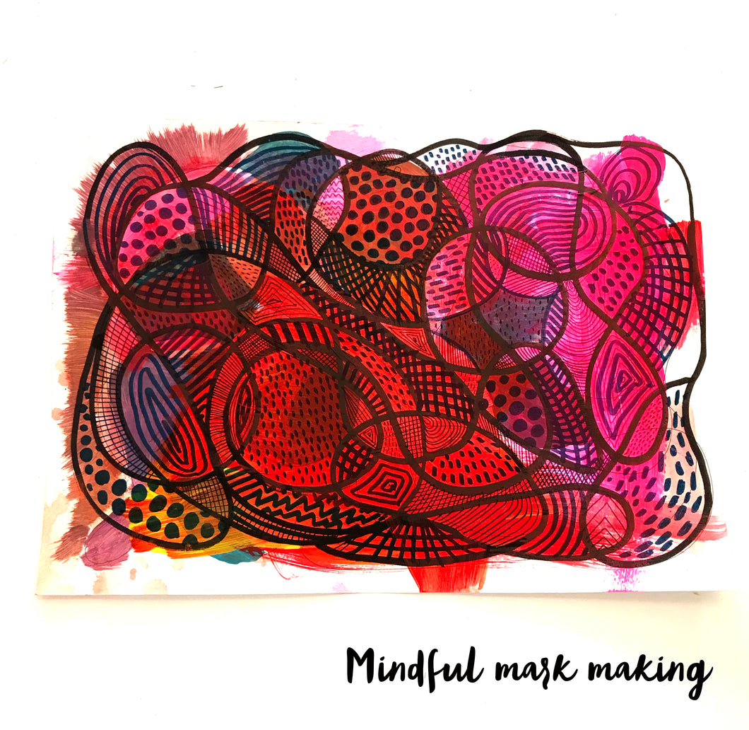 Mindful Mark Making for kids and parents 30th July (2pm)