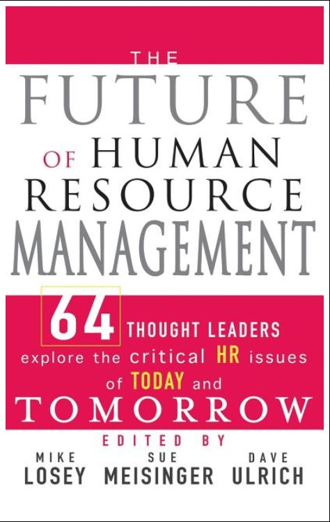 The Future of Human Resource Management - Leadership Books