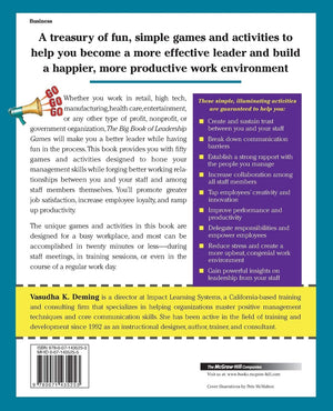 The Big Book of Leadership Games: Quick, Fun Activities to Improve Communication, Increase Productivity, and Bring Out the Best in Employees - Leadership Books