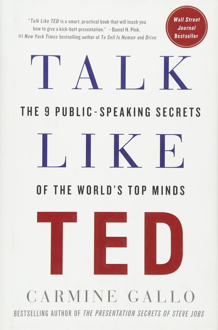 Talk Like TED: The 9 Public-Speaking Secrets of the World's Top Minds - Leadership Books